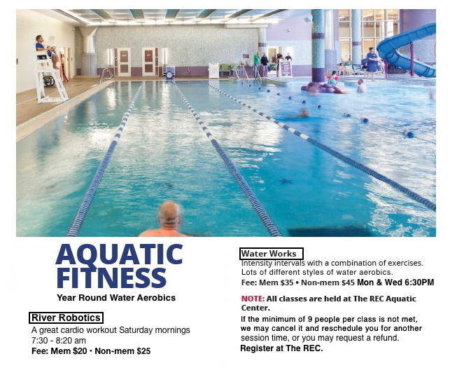 Grapevine TX The REC Water Aerobics and Aqua Pilates Schedule